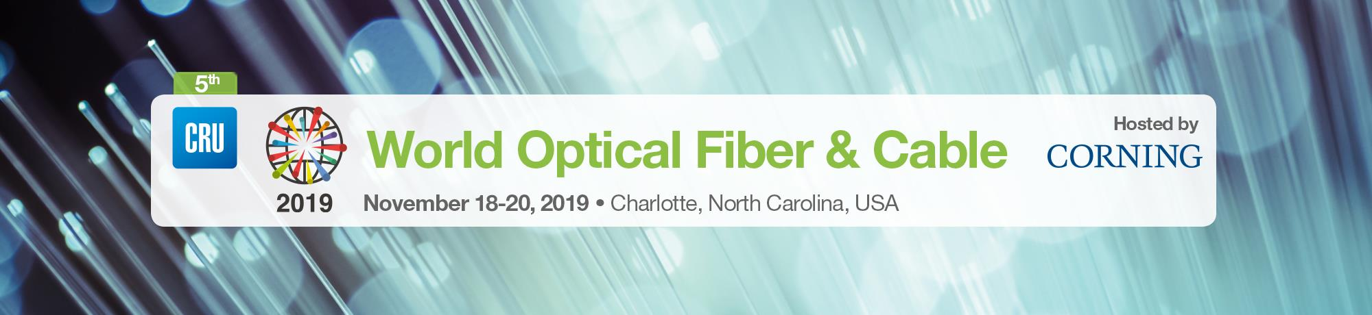 home | CRU World Optical Fiber & Cable Conference 2019